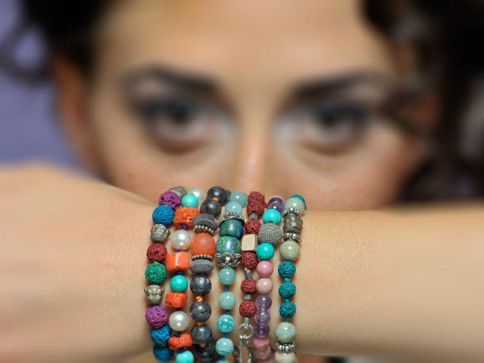bracciali con pietre dure, VISO viso donna