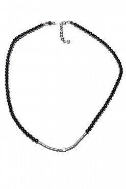 Girocollo ematite nera argento