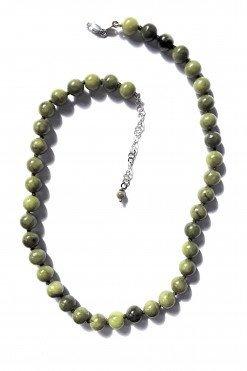 Girocollo donna giada verde argento