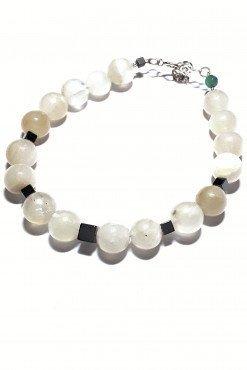 Bracciale agata bianca argento spirituale