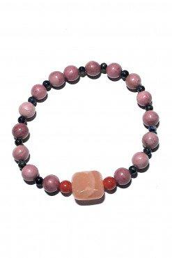 Bracciale rosa pietre dell'amore