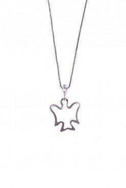 Catenina con angelo, argento Catenina veneziana 40 cm. con ciondolo, angelo apertoin argento 925 rodiato, angeli simboli di protezione amore