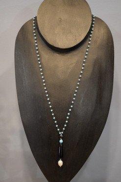 Collana turchese agata nera