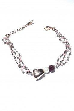 Bracciale rosario opale perla giada
