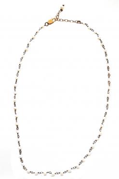 Girocollo rosario perle, argento oro