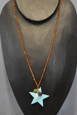 Collana stella turchese pietre dure