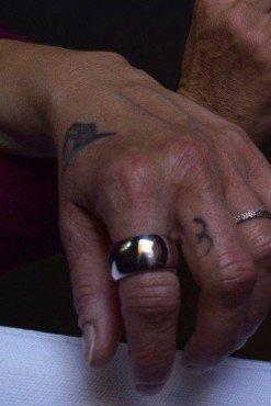 anello fascia bombata argento lucido
