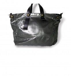 Borsa pelle grigia nera swagger bag