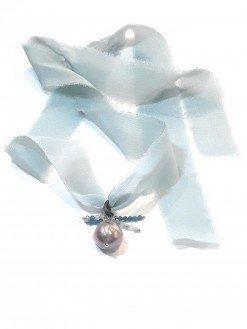nastro in seta con perla scaramazza
