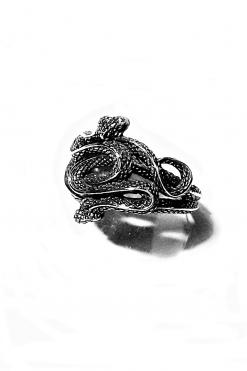 Anello uomo 2 serpenti annodati