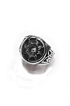 Anello uomo sole celtico argento