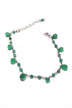 Bracciale rosario gocce onice verde