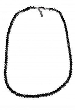 Girocollo uomo ematite nera argento