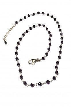 Girocollo rosario granato argento dorato