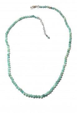 Girocollo azzurro Amazzonite argento