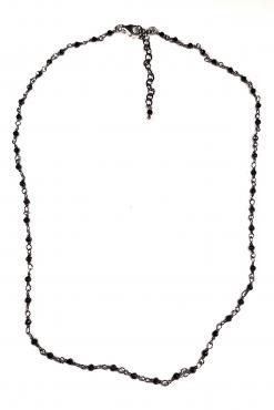 Girocollo rosario spinello argento nero