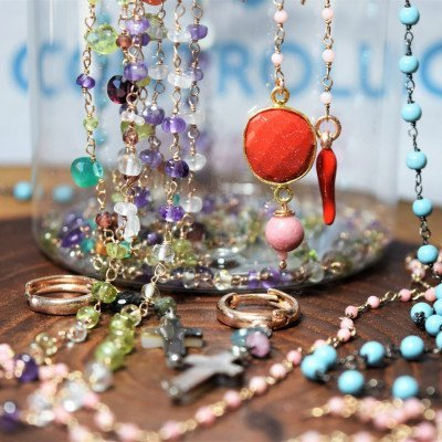 rosari pietre dure e argento,