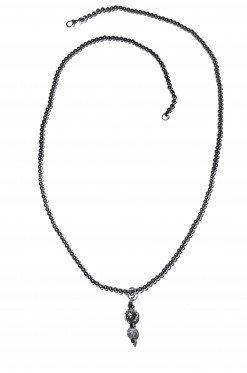 Collana Uomo ematite pendente argento