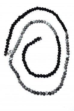 Collana lunga Uomo grigio nera