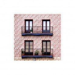 Pochette cotone Barceloning decoro rose
