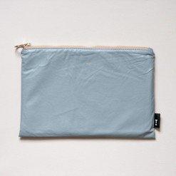 Pochette multiuso eco-pelle grigio 19x28