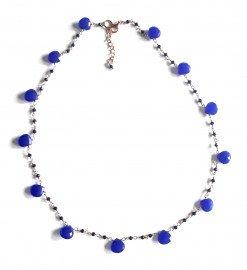 Girocollo rosario gocce Agata blu