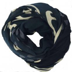 Sciarpa Lana XL nera rosa Brezz
