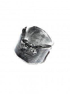 Anello fascia argento fuso