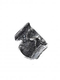 Anello fascia argento etico corsetto
